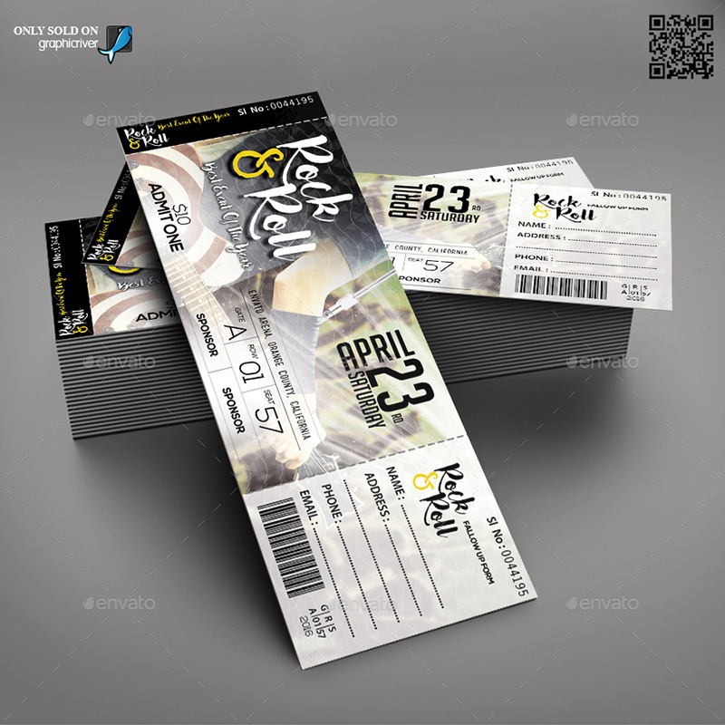 Event Ticket Templates Psd  Mockup Depot