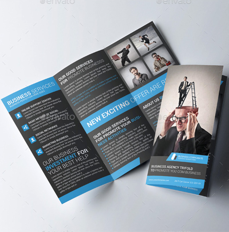 best corporate trifold brochure