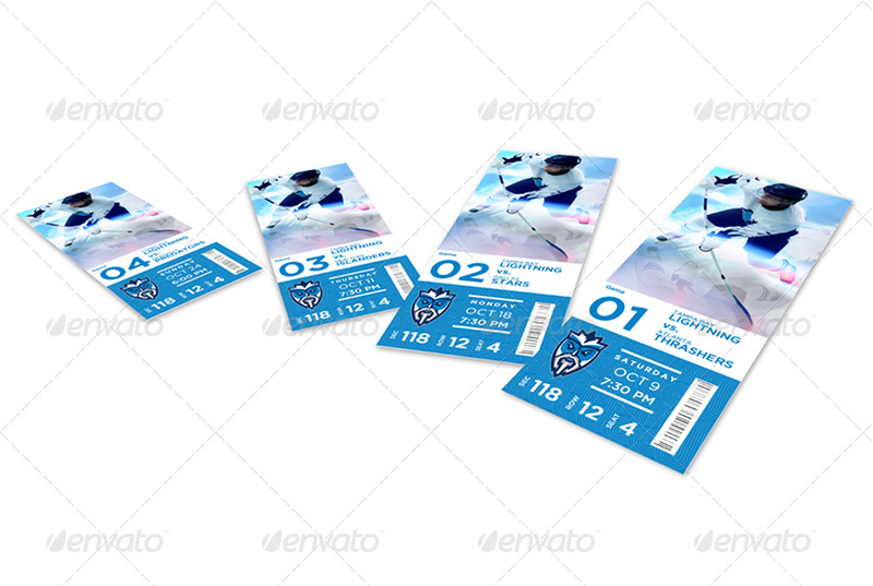 great Event Ticket Mockups premium psd
