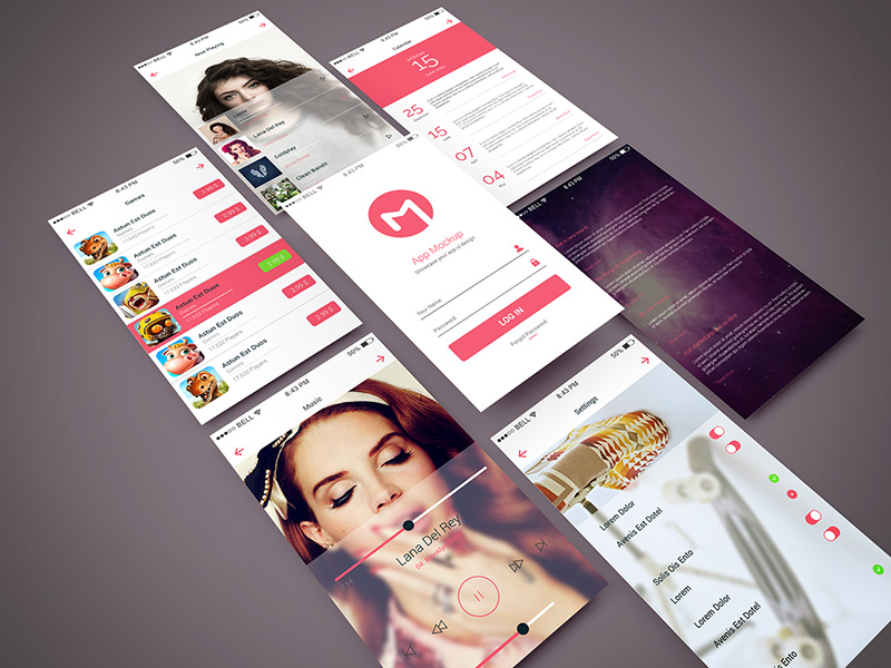 best Mobile App Mockup PSD free