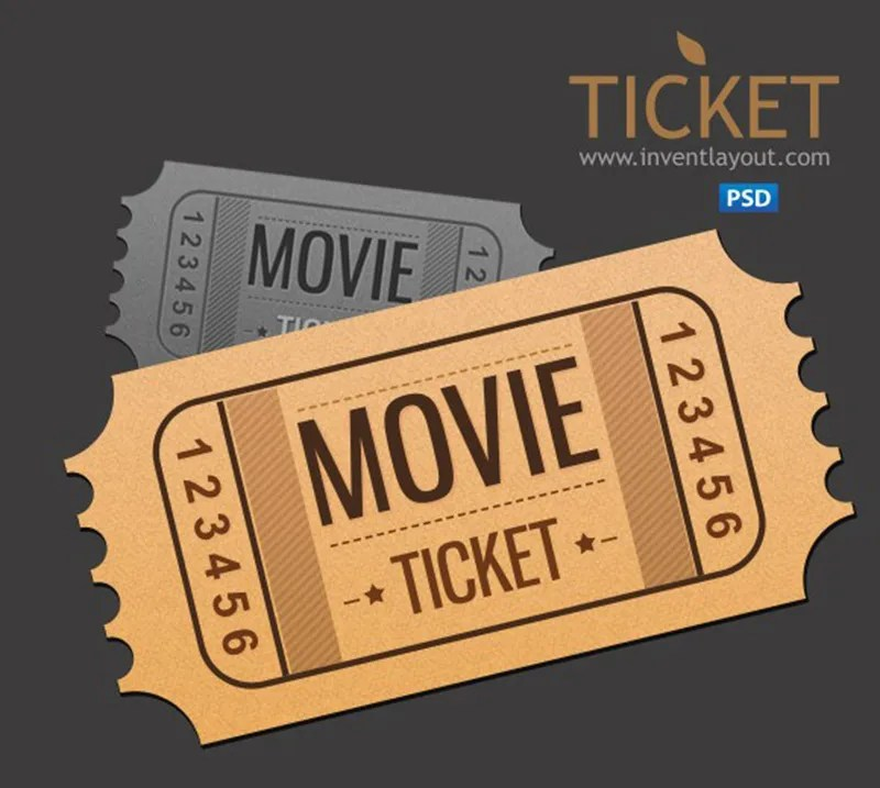 unique free event movie ticket template psd