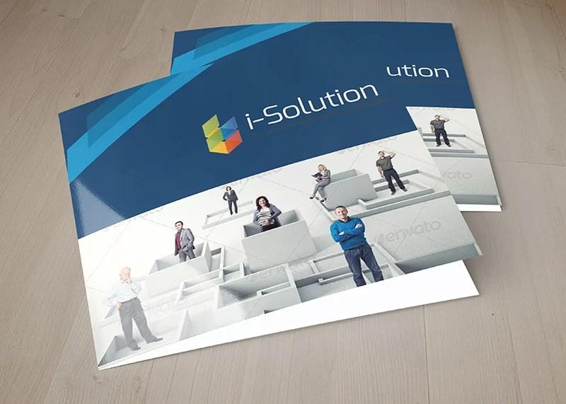best nice premium business square brochure mockup psd
