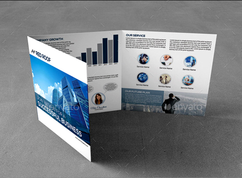 awesome corporate trifold brochure psd template