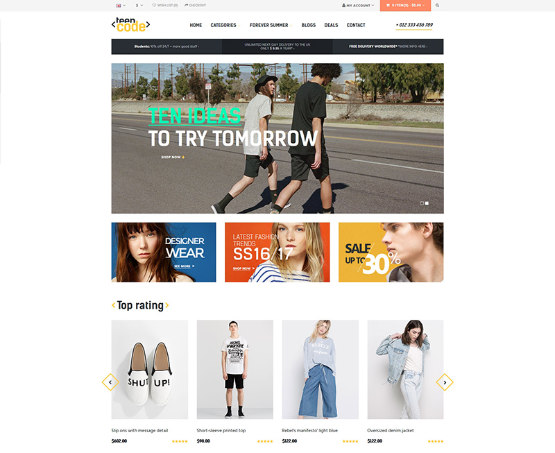 latest modern premium wordpress eCommerce theme
