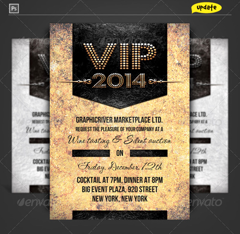 cool & premium event vip pass ticket mockup template on psd