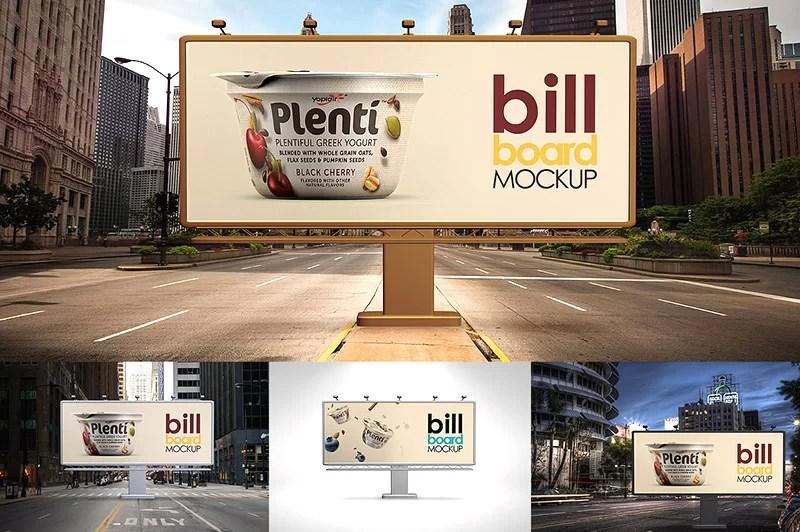 latest premium outdoor advertising billboard mockups psd