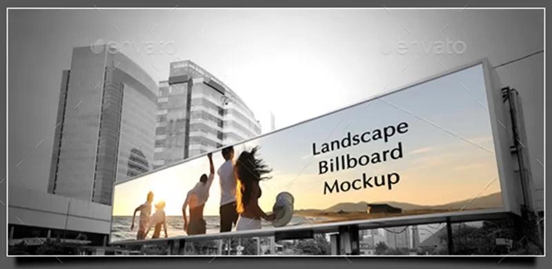 unique premium outdoor advertising billboard mockups psd