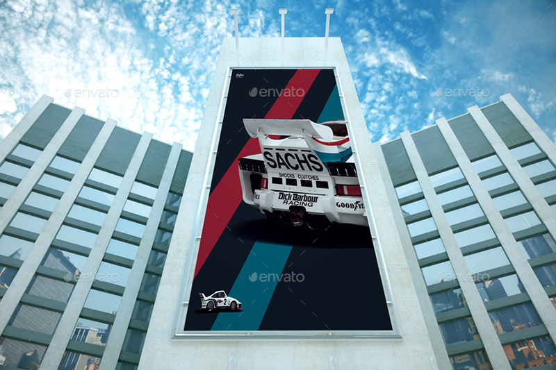 great premium outdoor advertising billboard mockups psd