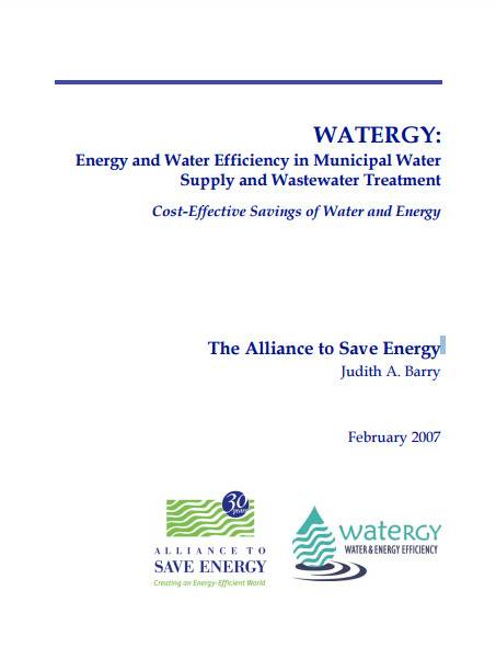 BiblioWATERGY Energy and Water Efficiency in Municipal Water