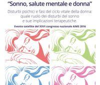 sonno salute mentale e donna-satellite AIMS 2016