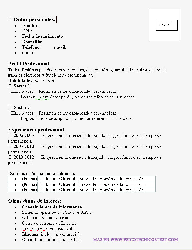 curriculum vitae europeo english word professional resumes