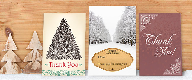 Five Cool Holiday Thank You Card Themes