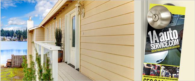Door Hanger Marketing In The Digital Age - retail and consumer door hanger template