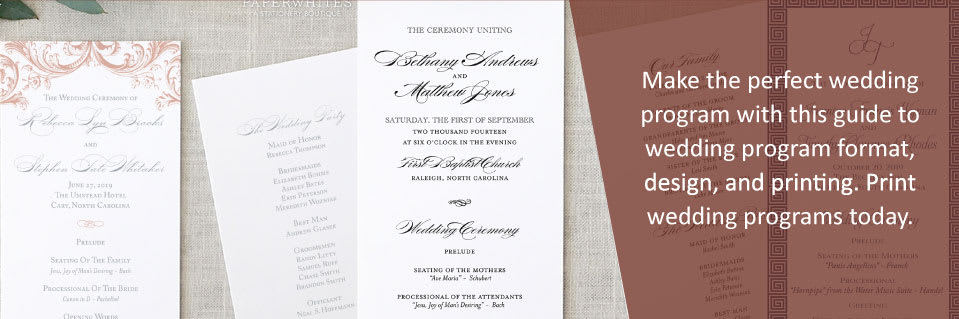 How to Make the Perfect Wedding Program - how to design wedding program template