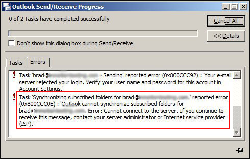 How To Solve Microsoft Outlook Error 0x800CCC0E Easily