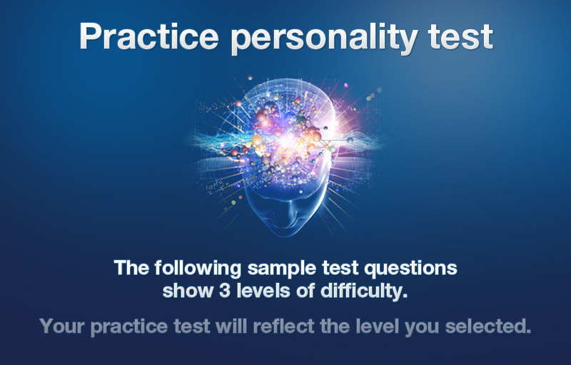 Personality test questions examples - personality interview questions and answers