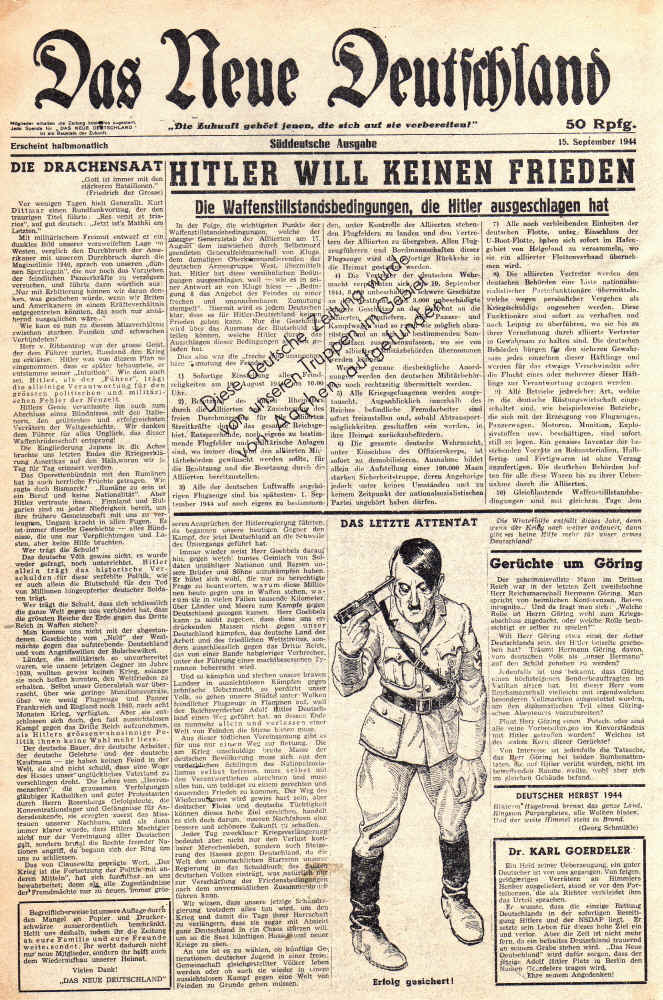 Das Neue Deutschland was a propaganda newspaper produced by the - print divorce papers