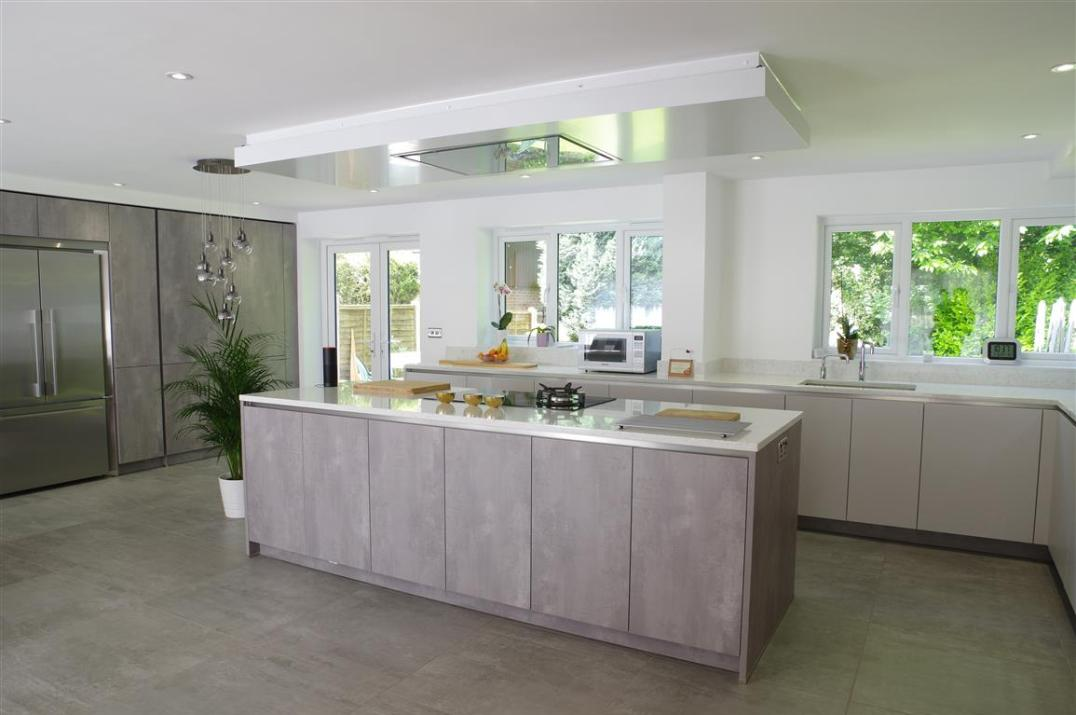 Putty Concrete Pearl Grey Kitchen