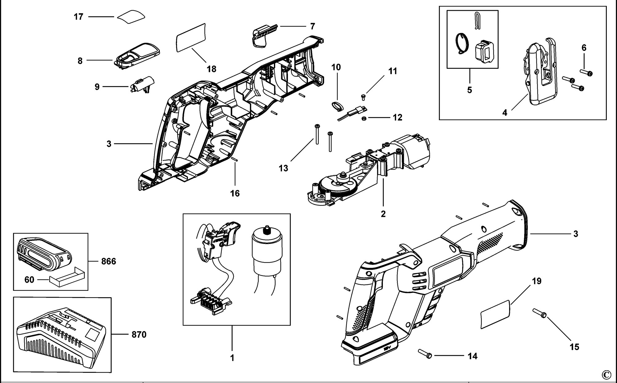 reciprocating Motor diagram