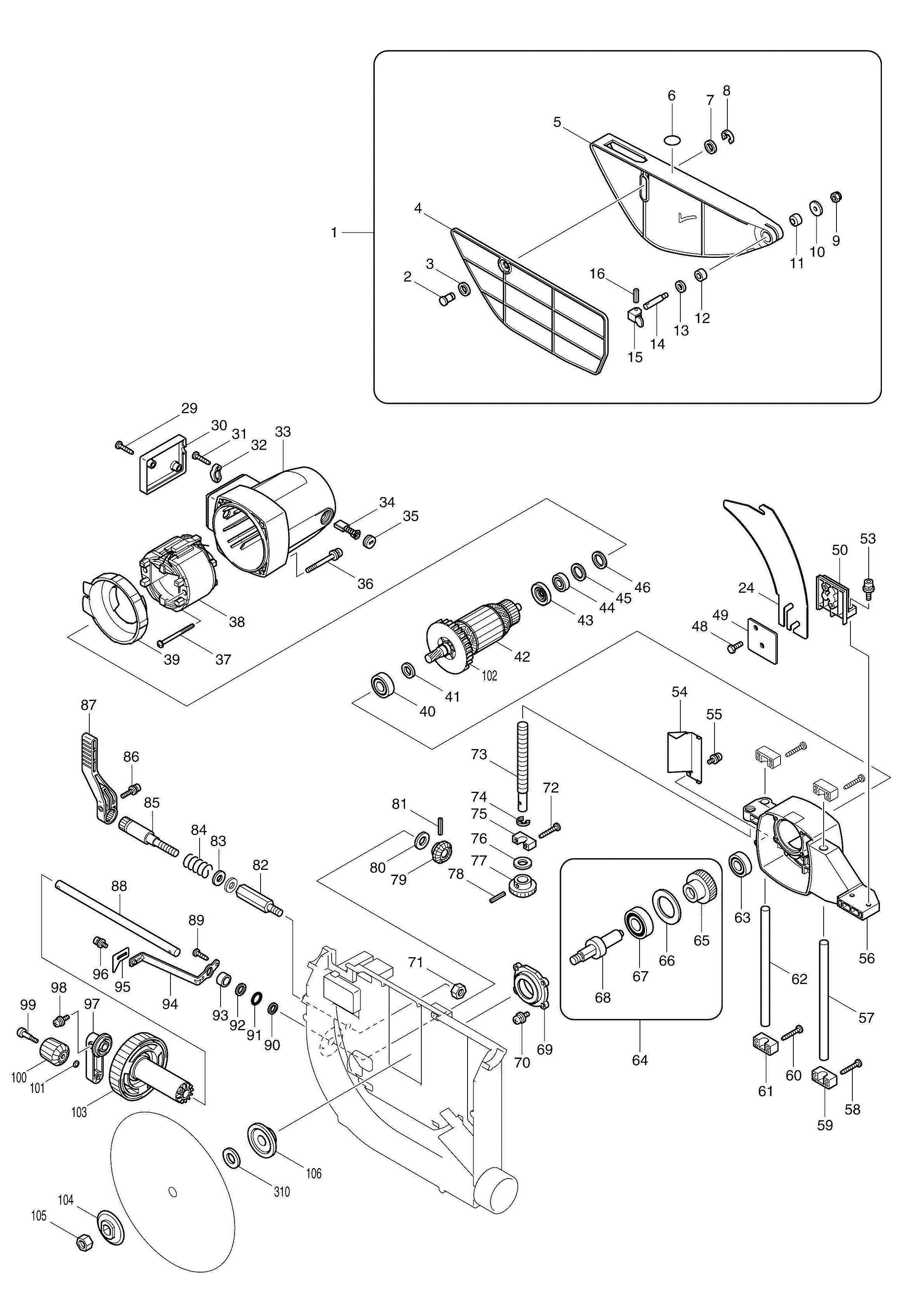 makita table saw wiring diagram