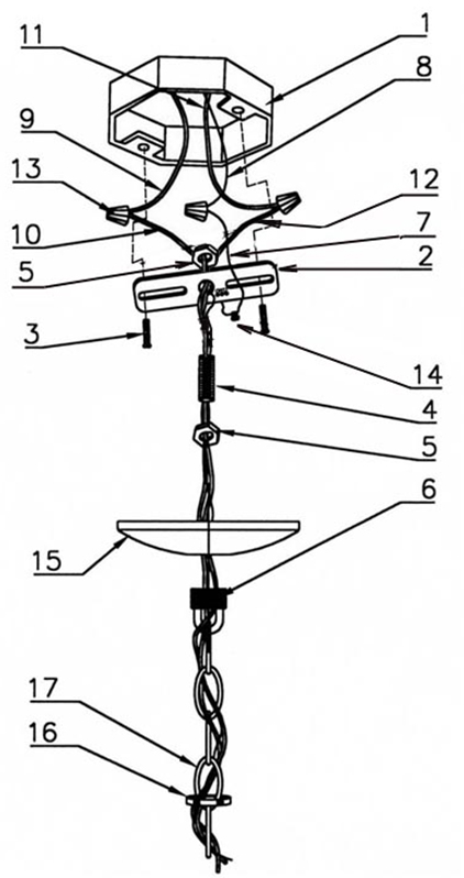 wire diagram to rewire a chandelier