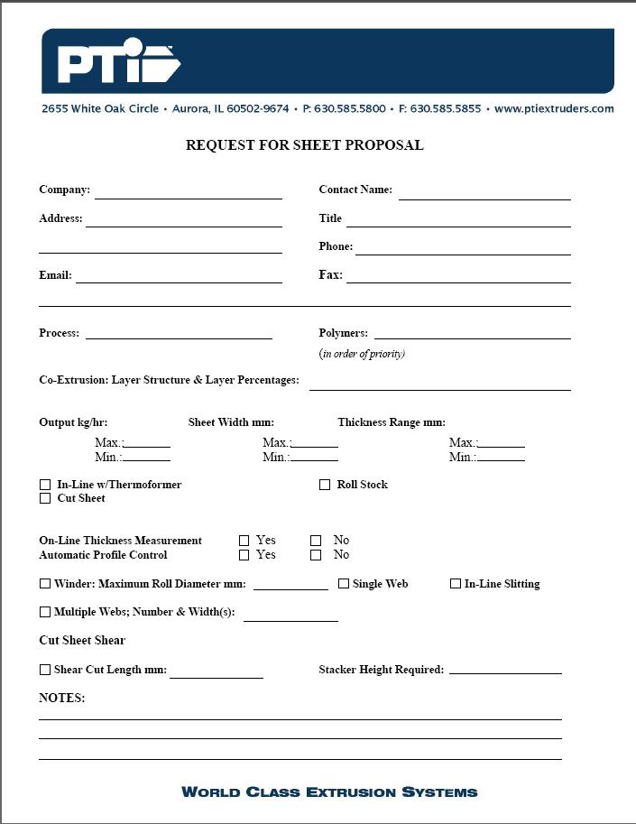 free printable bid proposal forms - Militarybralicious - free proposal forms