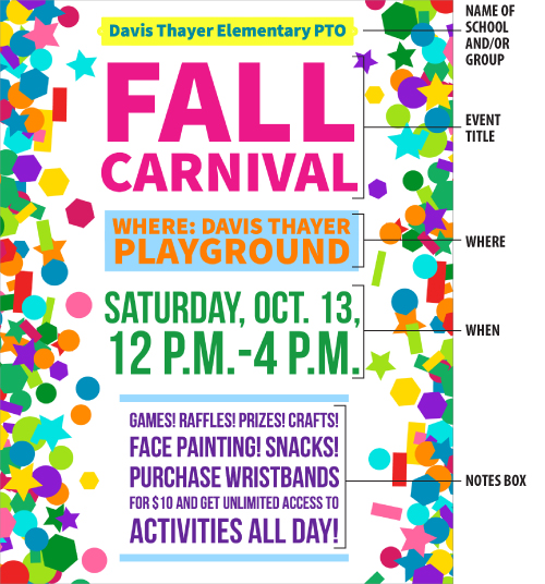 fall carnival flyer - PTO Today