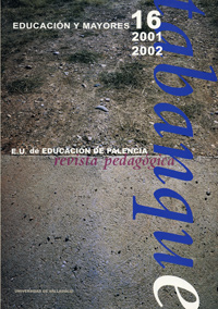 TABANQUE. REVISTA PEDAGÓGICA 16 (2001-2002). EDUCACIÓN Y MAYORES