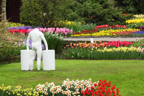 Desktop Wallpaper Animals Download Free Statue In Flower Garden Free Stock Photo Public Domain