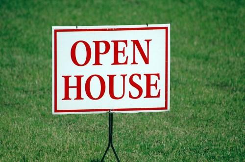 Medium Of Open House Sign