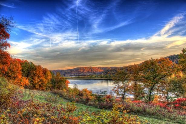 4k Fall Michigan Wallpaper Beautiful Autumn River Valley Free Stock Photo Public