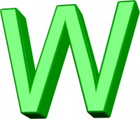 3D Green Letter W Free Stock Photo - Public Domain Pictures