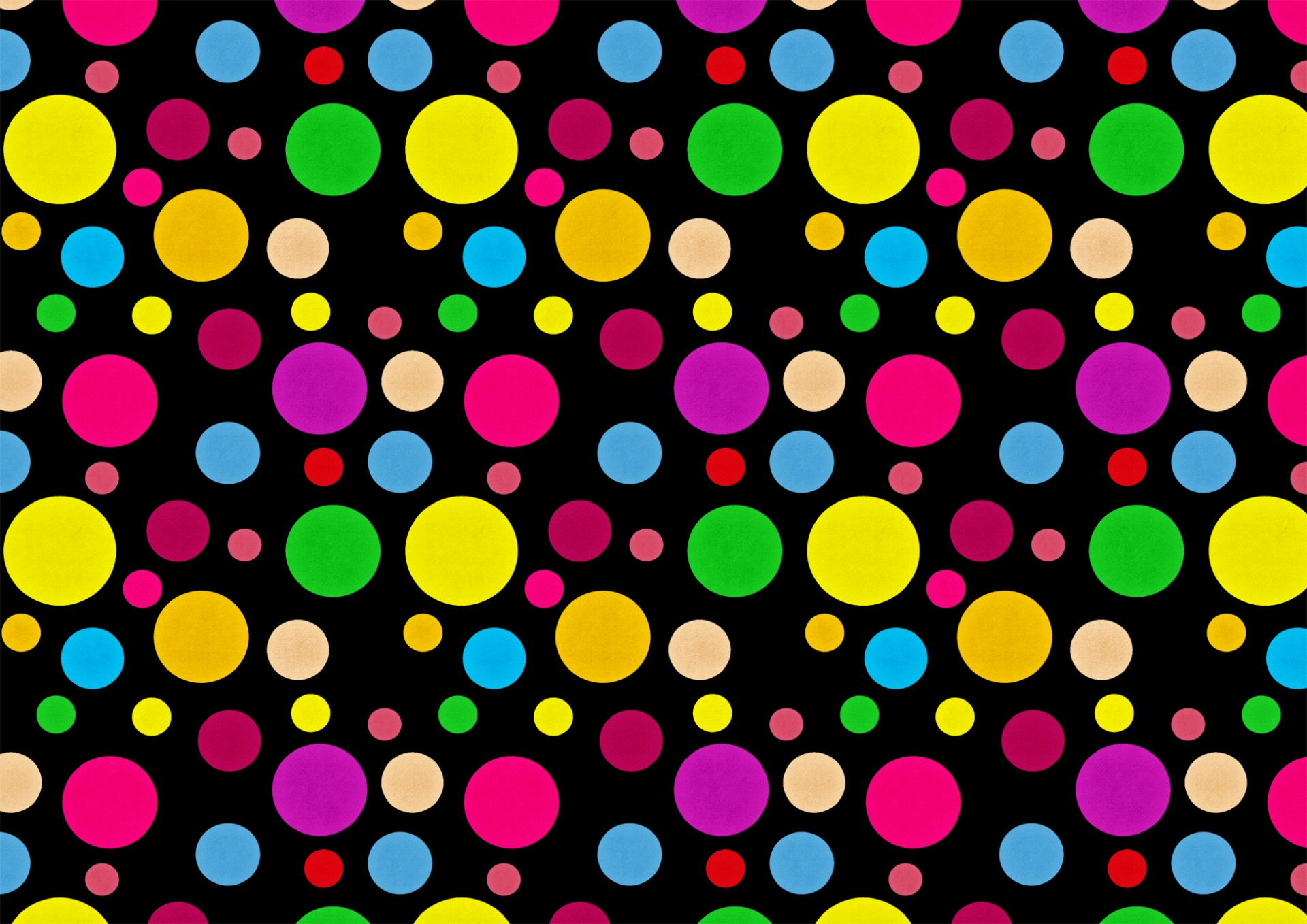 Cute Zig Zag Wallpapers Black Background Rainbow Dots Paper Free Stock Photo