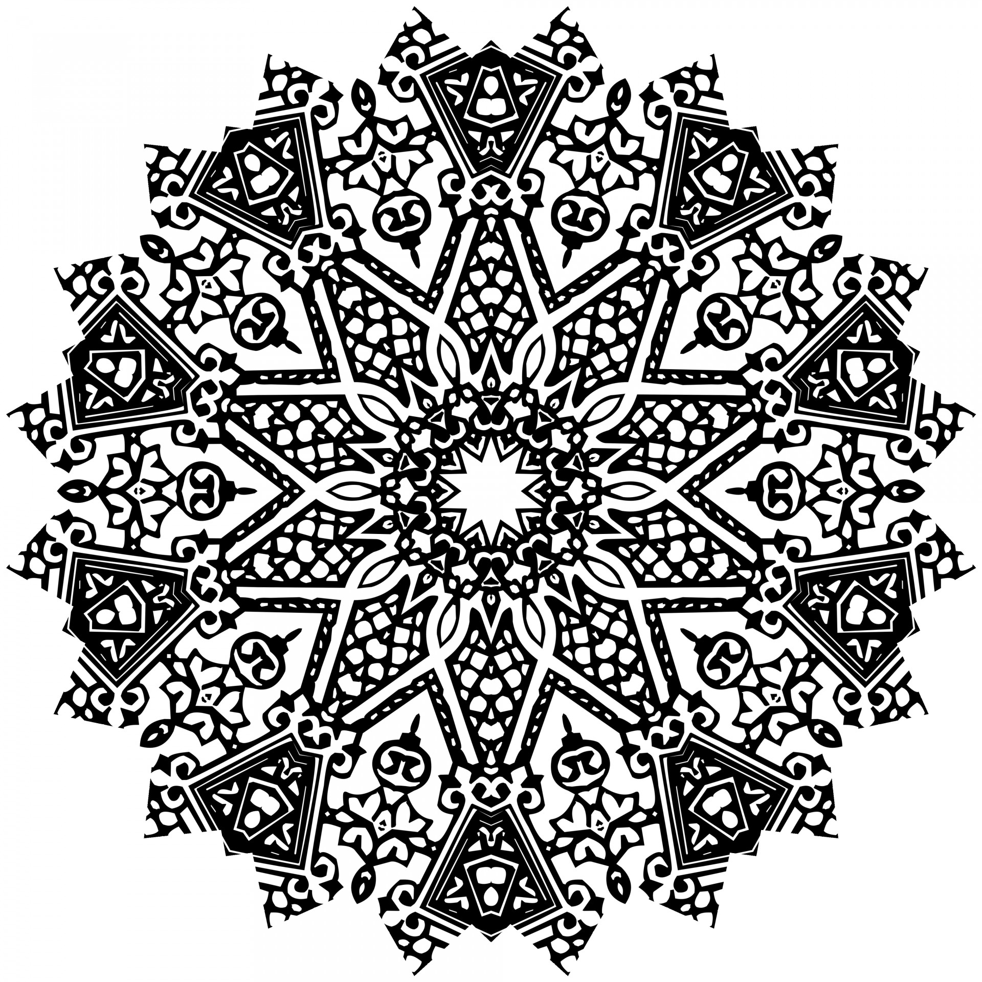 3d Art Drawing Wallpaper Black Mandala Free Stock Photo Public Domain Pictures