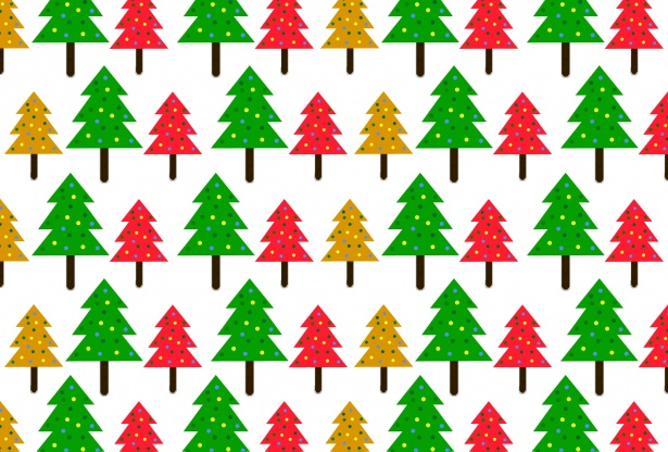 Christmas Trees Pattern Background Free Stock Photo - Public Domain