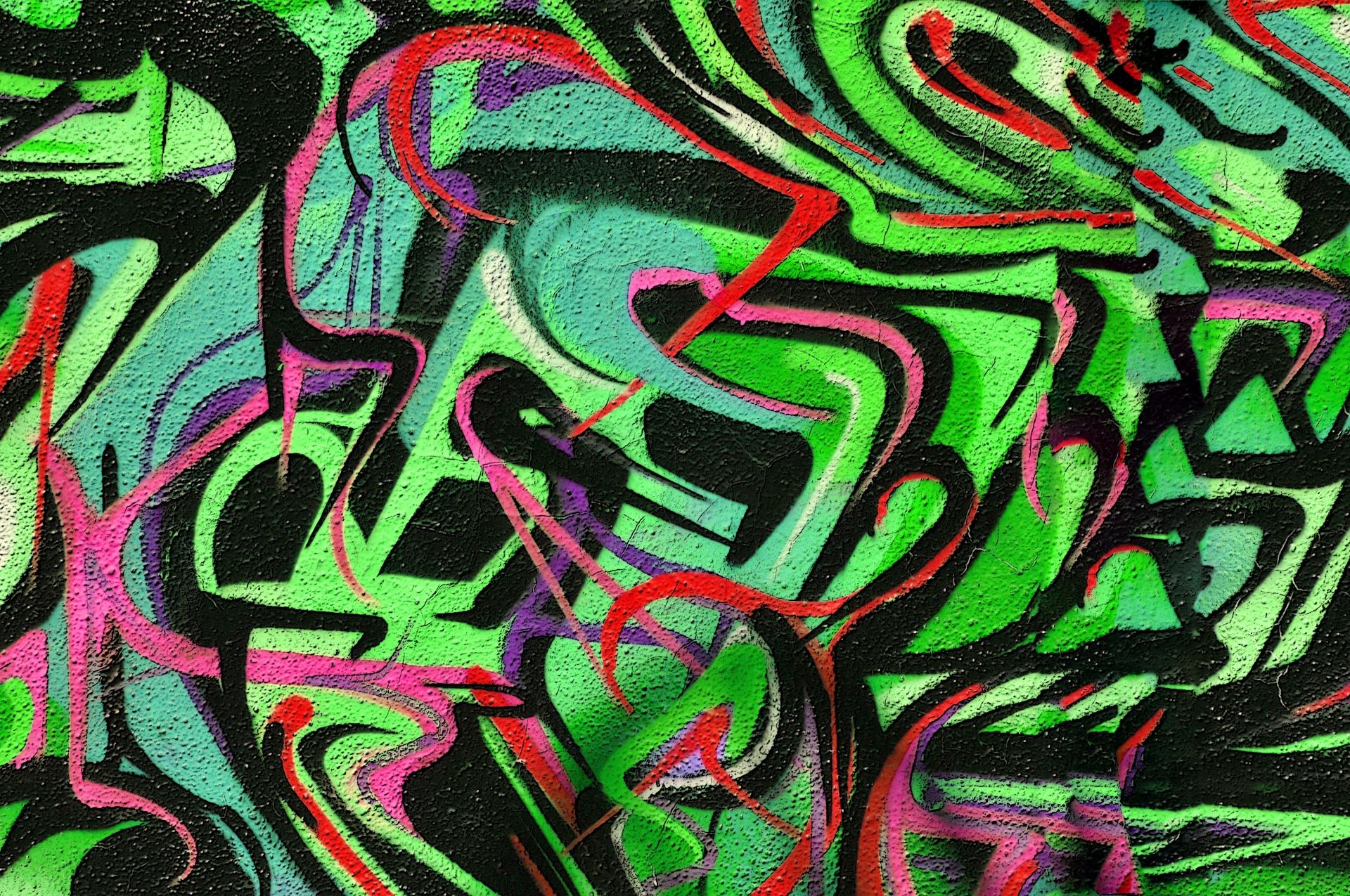 Urban Wallpaper Hd Green Graffiti Background Free Stock Photo Public Domain