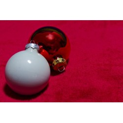 Small Crop Of White Christmas Ornaments