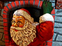 Santa Emerges From Fireplace Free Stock Photo - Public ...
