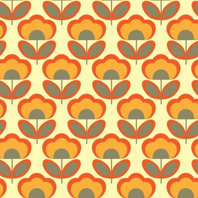 Floral Retro 70s Wallpaper Free Stock Photo - Public Domain Pictures
