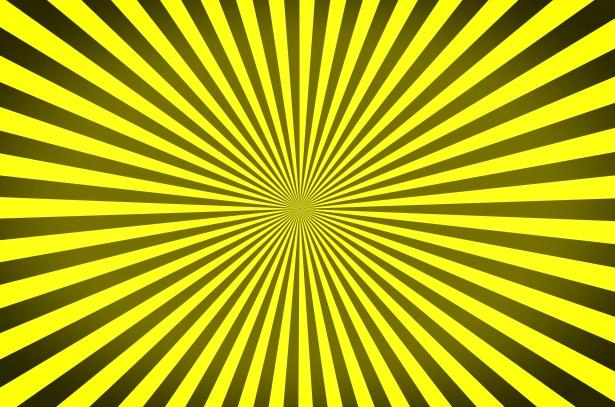 Black And Yellow Wallpaper Sunburst Pattern Radial Background Free Stock Photo