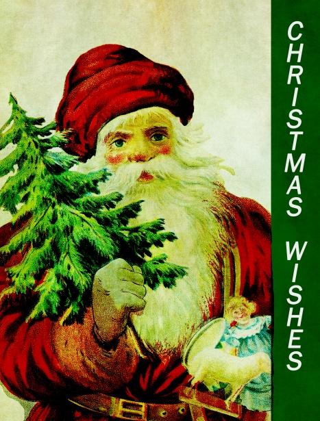 Christmas Card Santa Vintage Free Stock Photo - Public Domain Pictures
