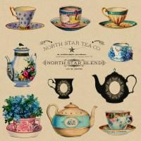 Teacups Vintage Wallpaper Adverts Free Stock Photo ...