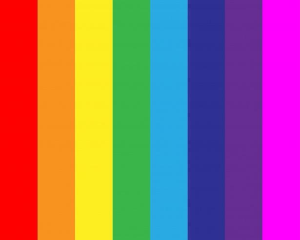 Blue Neon Hd Wallpaper Rainbow Stripes Background Free Stock Photo Public