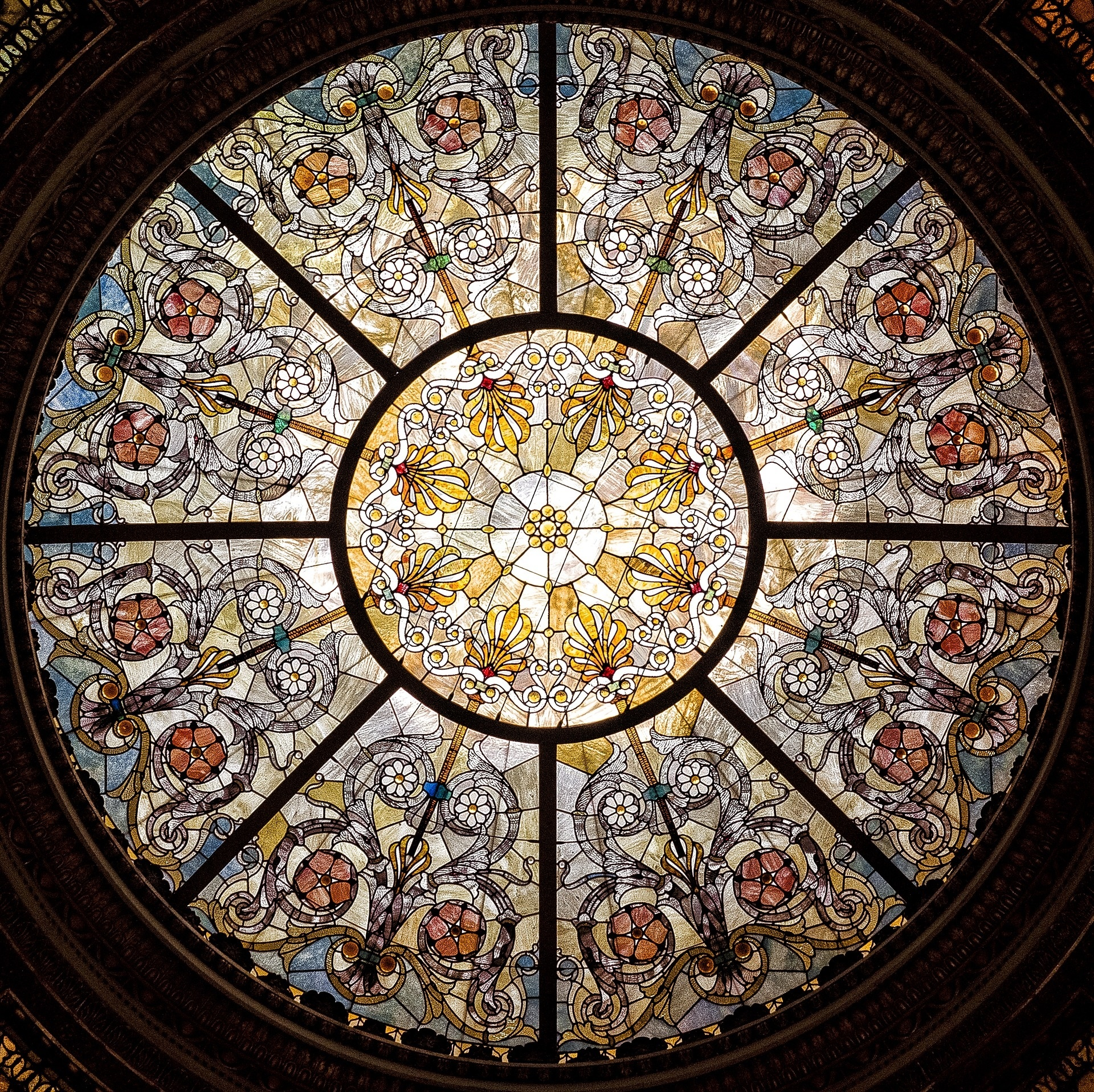 Ceiling Wallpaper 3d Stained Glass Free Stock Photo Public Domain Pictures
