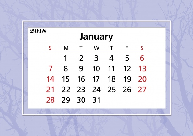 January 2018 Calendar Frame Free Stock Photo - Public Domain Pictures