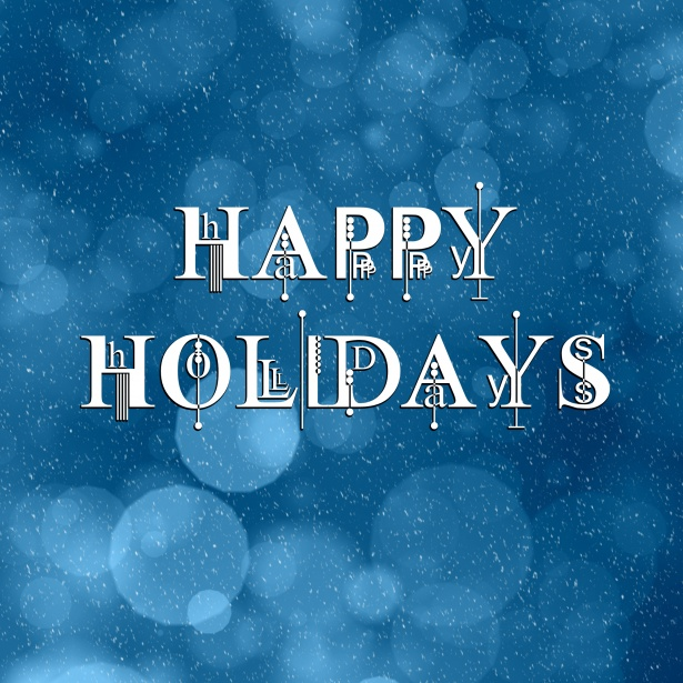 Blue Happy Holidays Greeting Free Stock Photo - Public Domain Pictures