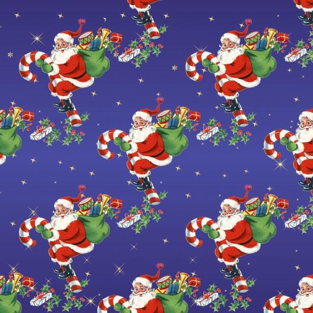Christmas Vintage Santa Background Free Stock Photo - Public Domain