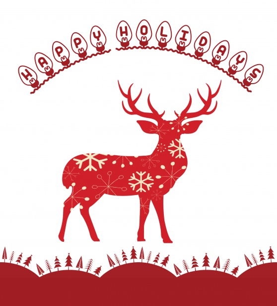 Happy Holidays Deer Free Stock Photo - Public Domain Pictures