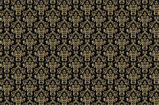 Damask Background Gold, Black Free Stock Photo - Public Domain Pictures