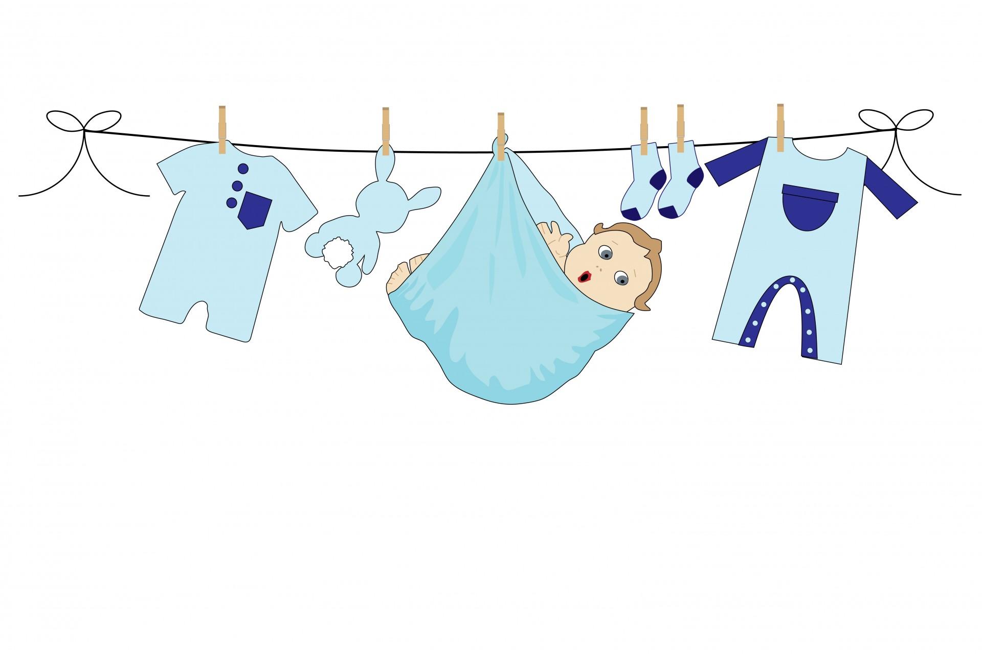 Baby Boy Clothes Line Free Stock Photo Public Domain